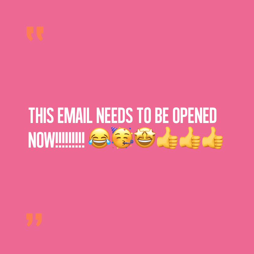 Avoid capitals, emojis and too much punctuation in subject lines