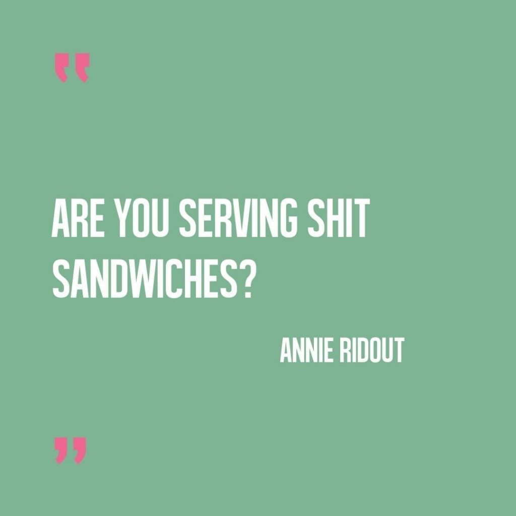 Are you serving up shit sandwiches?