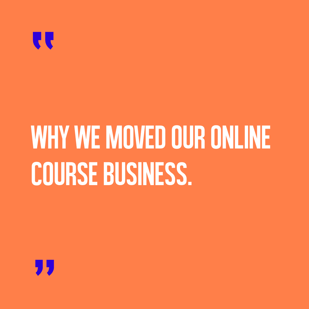 why we moved from annie ridout courses