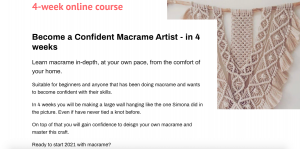 Become a Confident Macrame Artist - course by Isabella Strambio